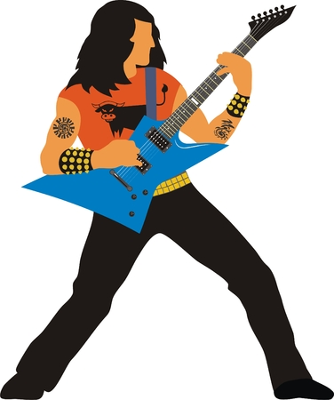 Heavy metal guitarist Illustration