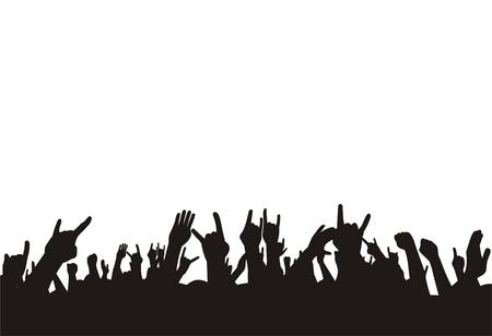 illustration vectorielle foule de concert