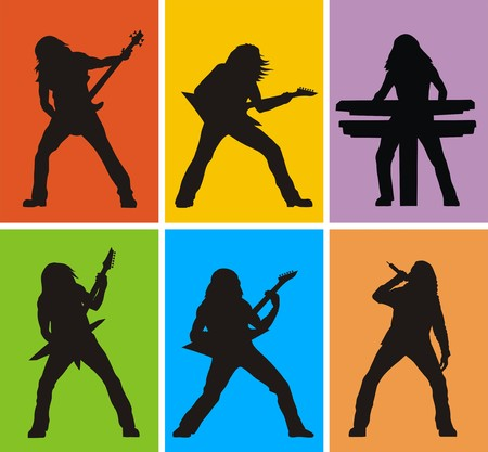 Heavy metal musician Stock Vector - 3769068