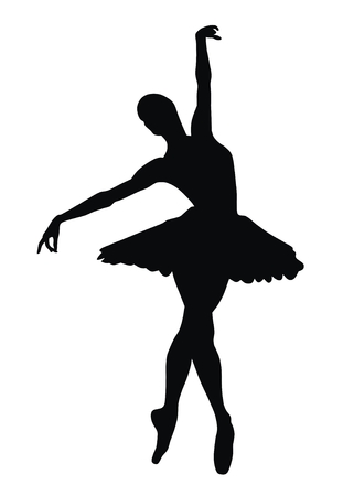 t�nzer silhouette: Abstract vector illustration der Ballerina