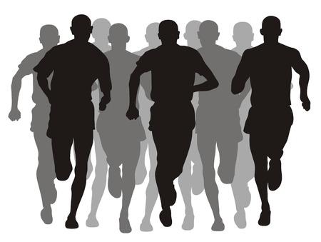 running track: Abstract vector illustratie van de marathon evenement