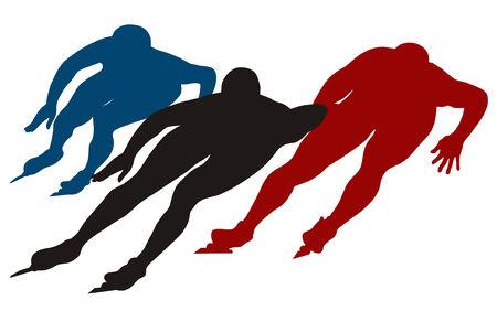 Abstract vector illustration of skating men Vector
