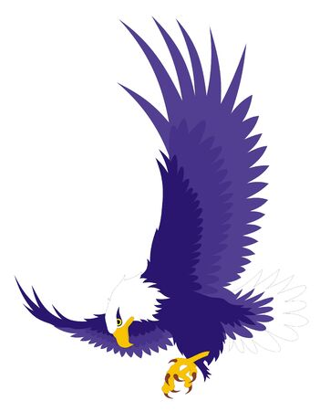 flying eagle: Vector illustration of flying eagle