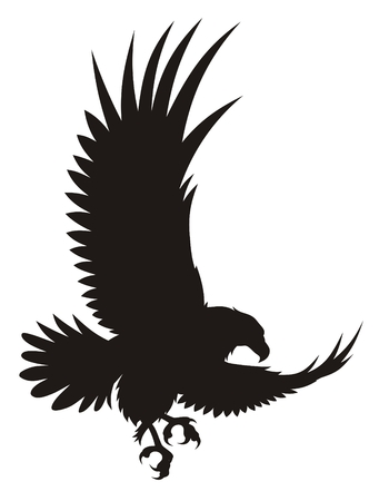 Vector illustration of flying eagle