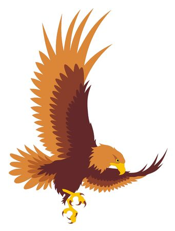 Abstract vector illustration of flying eagle Illustration