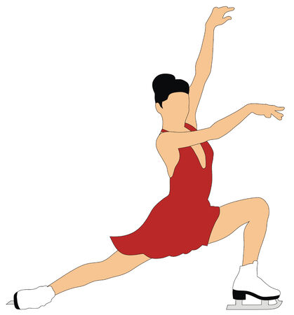Abstract vector illustration of figure skating
