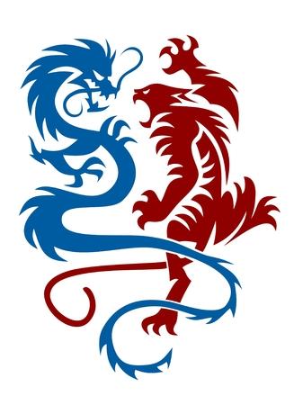 tiger: Tiger and Dragon