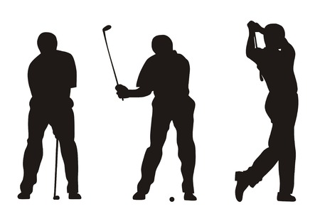 stance: Abstract illustration of golfer Illustration