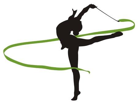 rhythmic gymnastics: Resumen vecror ilustración de gimnasia rítmica