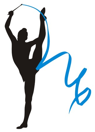 gymnastics sports: Abstract vecror illustration of rhythmic gymnastic