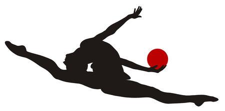 rhythmic gymnastic: Resumen ilustraci�n vectorial de gimnasia r�tmica