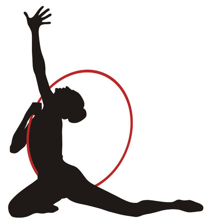 Illustrazione vecror Abstract di ginnastica ritmica