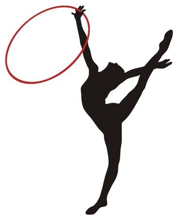 Abstract vecror illustration of rhythmic gymnastic