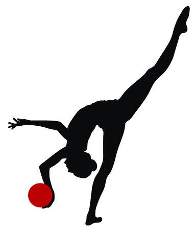 rhythmic gymnastic: Abstract vecror illustration of rhythmic gymnastic