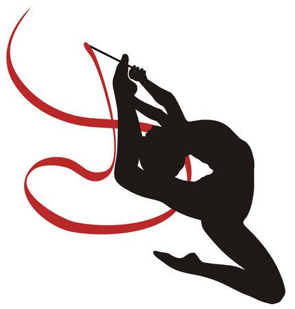 gymnasts: Abstract vecror illustration of rhythmic gymnastic