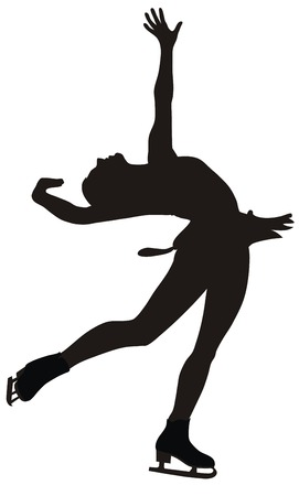 figure skating: Abstract vector illustration of figure skating