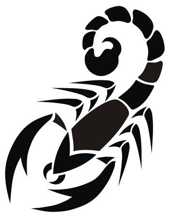 escorpio: Resumen ilustraci�n vectorial de escorpi�n