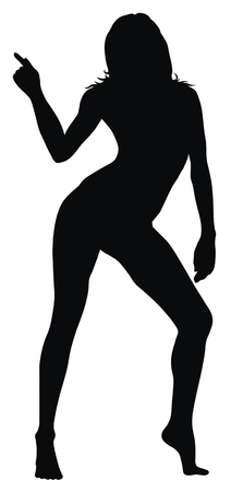 sexy woman silhouette: Abstract vector illustration of sexy woman silhouette