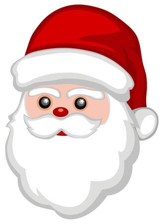 Abstract vector illustration of funny Santa Claus