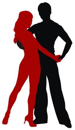 bailarines silueta: Resumen ilustraci�n vectorial de bailarines de Am�rica Latina