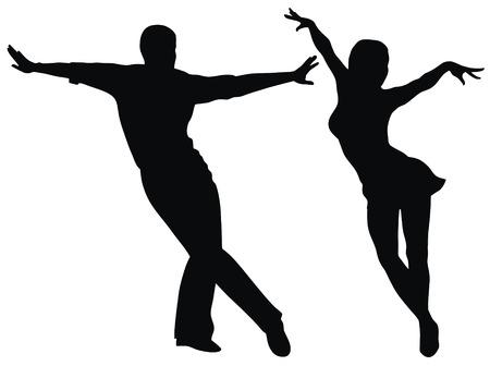 Abstract vector illustration der lateinamerikanischen Tänzer