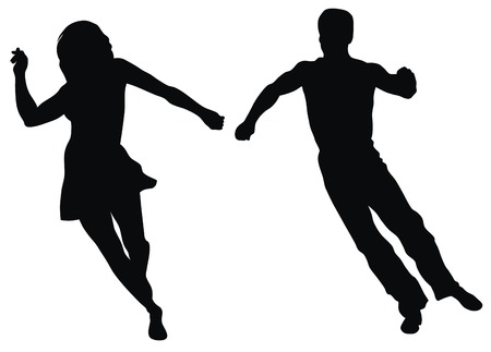 jive: Abstract vector illustration of latin american dancers