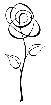 stylize: Abstract vector illustratie van bloem Stock Illustratie