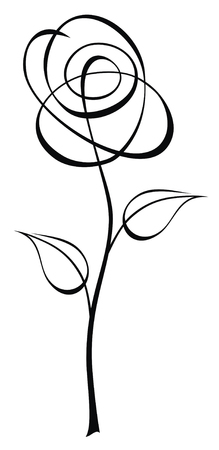 Abstract vector illustration of flower