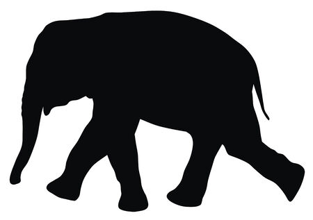 Abstract vector illustration of elephant