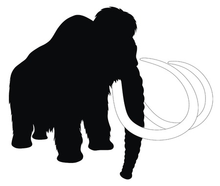 extinction: Abstract vector illustration of mammoth