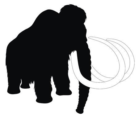 Résumé de l'illustration vectorielle mammouth
