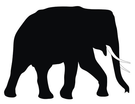 Abstract vector illustration of elephant Stock Vector - 4246312