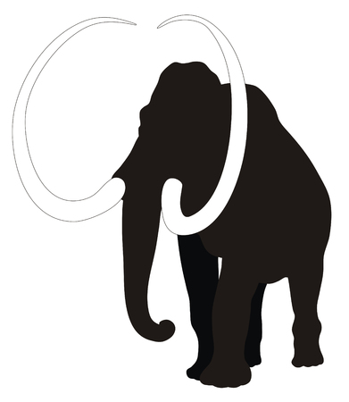 Abstract vector illustration of mammoth