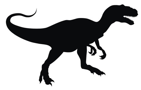 dinosaur: Abstract vector illustration of prehistoric animal silhouette