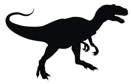 contorno: Resumen ilustraci�n vectorial de la silueta de animales prehist�ricos Vectores