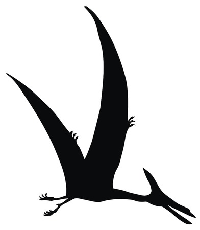 raptor: Abstract vector illustration of prehistoric animal silhouette