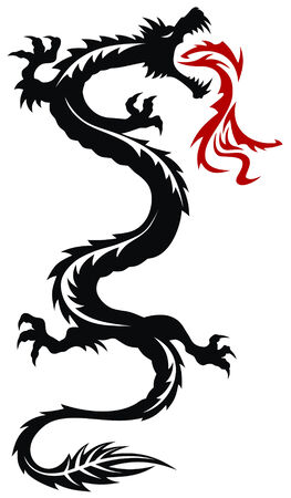 Abstract vector illustration of chinese dragon Vector