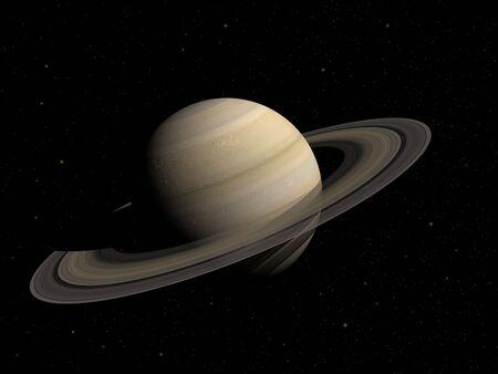 3d rendering del pianeta Saturno