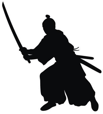 guerrero samurai: Resumen ilustraci�n vectorial de samurai