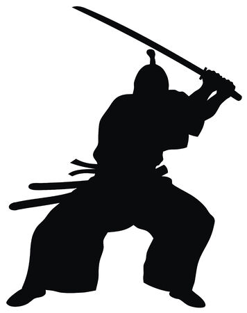 samurai: Abstract vector illustration of samurai