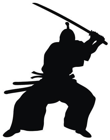 guerrero samurai: De ilustraci�n vectorial Resumen de samurai