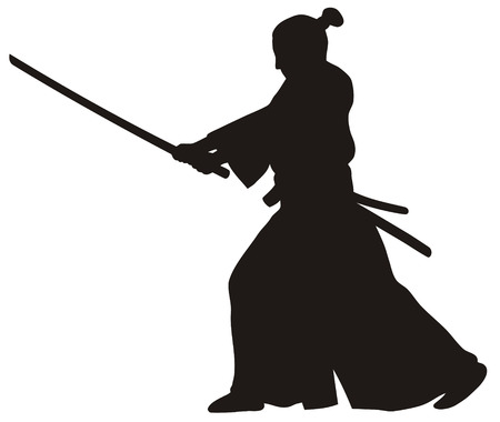 Abstract vector illustration of samurai Stock Vector - 4506999