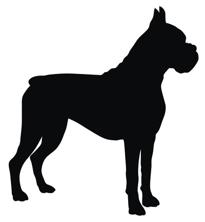 dog silhouette: Abstract vector illustration of dog silhouette Illustration