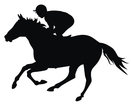 animal track: Abstract vector illustration of horce and rider Illustration
