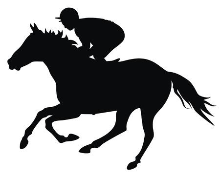 galop: R�sum� de l'illustration vectorielle et le cavalier horce Illustration