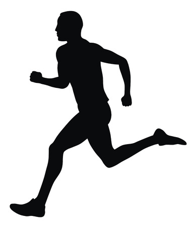 Abstract vector illustration of marathon runner