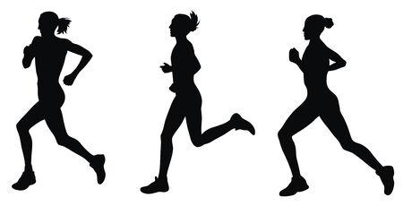 Abstract vector illustratie van marathonlopers
