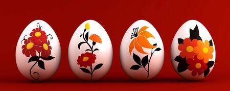 pasch: 3d rendere le uova di Pasqua