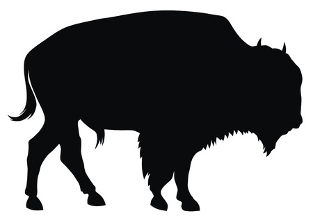 hoofed: Abstract vector illustration of buffalo