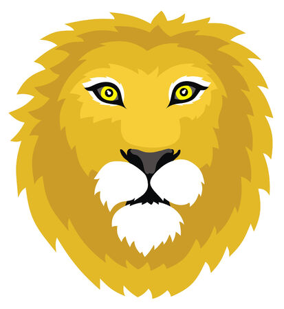roar: Abstract vector illustration of lion head
